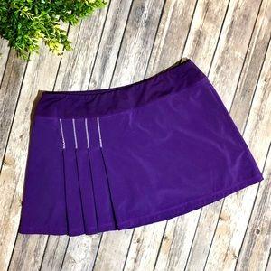 Athleta Second Wind Purple Pleated Skorts Skirt